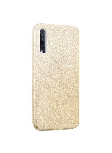 Microsonic Microsonic Samsung Galaxy A50 Kılıf Sparkle Shiny Gold Altın